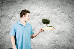Man with book Royalty Free Stock Image