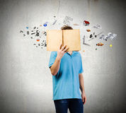 Man with book Stock Photography