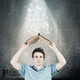 Man with book Royalty Free Stock Photos
