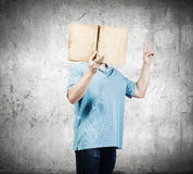 Man with book Stock Image