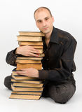 Man with books Royalty Free Stock Image