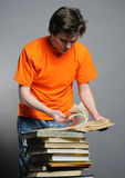 Man with books. Royalty Free Stock Photography