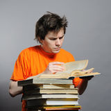Man with the books. Royalty Free Stock Photography