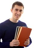 Man with books Royalty Free Stock Photo