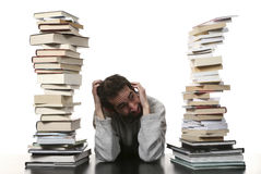 Man and books Royalty Free Stock Images