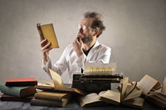 Man with books Royalty Free Stock Photography