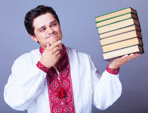 Man with books. Royalty Free Stock Photos
