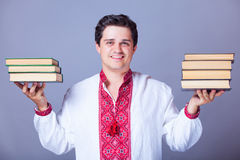 Man with books. Stock Image