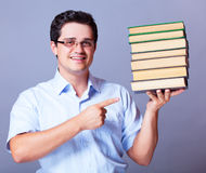 Man with books. Stock Photo