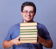 Man with books. Stock Photography