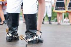 Man boot of Slovak folk dance Stock Photo