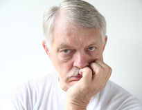 Man with bored expression Royalty Free Stock Image