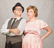 Man with Bored Pregnant Woman royalty free stock images