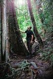 Man in borneo jungle Stock Images