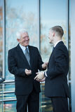 Man and boss Stock Photography