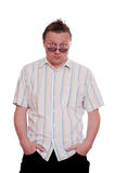 Man with both hands in his pockets Stock Photos