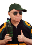 A man with a bottle. Stock Photography