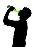 Man with bottle Royalty Free Stock Photo