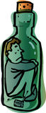Man in bottle Royalty Free Stock Images