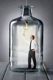 Man in a bottle Royalty Free Stock Photo