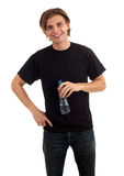 Man with bottle of water Stock Image