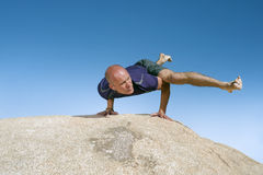 Yoga Eka Pada Koundinyasana II Stock Images