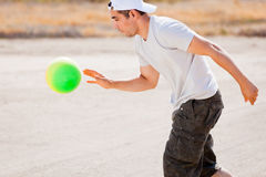 Man bouncing ball Royalty Free Stock Images