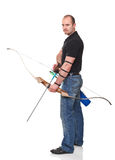 Man with bow Stock Photography