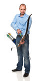 Man with bow Stock Images