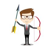 Man with a bow and arrow Stock Images