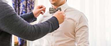 Man in a bow tie Stock Images