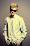 Man in bow-tie Stock Images