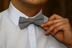 Man with bow tie Royalty Free Stock Image