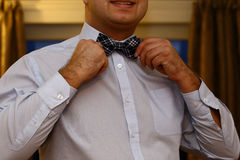 Man with bow tie Stock Photo