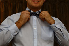 Man with bow tie Stock Photography