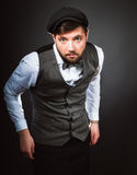 Man with bow tie Royalty Free Stock Photography