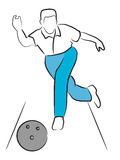 Man Bowling Royalty Free Stock Image
