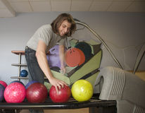 Man by bowling Royalty Free Stock Images