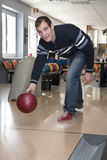 Man by bowling Stock Images