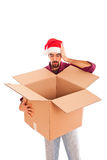 Man with Box Stock Image
