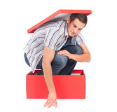 Man in the box Royalty Free Stock Images