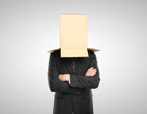 Man with a box Royalty Free Stock Images