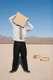 Man with a box Royalty Free Stock Image
