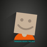 Man with box head Stock Photography