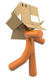 Man and box illustration Stock Photo