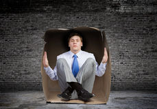 Man in box Royalty Free Stock Photography