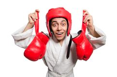 Man boxer isolated on the white Stock Photo