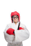 Man boxer isolated on the white Stock Photos