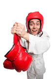 Man boxer isolated on the white Stock Photography