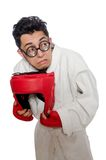 Man boxer isolated on the white Royalty Free Stock Photo